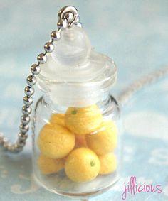 lemons in a jar necklace #shoplately
