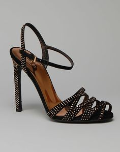 GUCCI Fleur Studded Strappy Evening Sandal