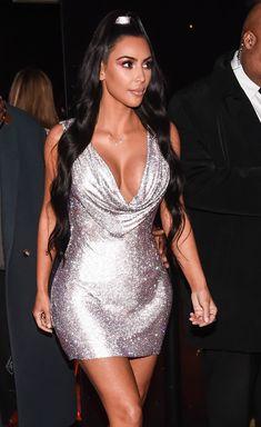 Kim Kardashian Ponytail, Kim Kardashian Bikini, Fashion Forever, Dress Rings, Party Looks, Girls Night Out, Down Hairstyles, Party Fashion, Bikinis