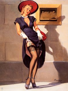 Gil Elvgren - Socking It Away (This Way I Draw More Interest)(Investments Should Be) 1949