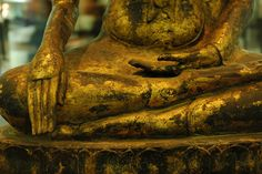 Bhumisparsha - the mudra of earth witness.