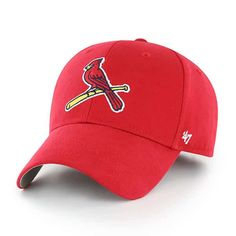 cheap for discount 14389 59719 St. Louis Cardinals KIDS 47 Brand Red MVP Adjustable Hat