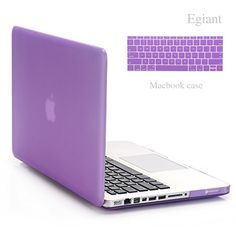 """Egiant-MacBook Pro 13/13.3 Inch Case(A1278) - Rubberized Hard Shell Protective Case With Soft Keyboard Skin Cover For Macbook Pro 13/13.3"""" (Purple )"""