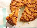 Caramel Peach Upside-Down Cake Recipe