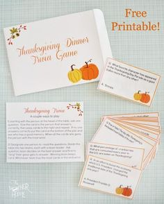 28 Thanksgiving Family Games & Traditions | {Free Printables}