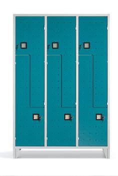 Armadietto Spogliatoio 6 Posti per Ristoranti multifunzione in lamiera di acciaio di alta qualità - serratura a cilindro inclusa - N.3 Colonne - N.6 Vani - Armadietto mm 1200x500x1800 - Metri Cubi 1,08 - Vano (LxPxH) 418/210x480x1140 mm. Capacità Litri Kg.65. Acquamarina RAL 5010. Colori assortiti di Design. Made in Italy. Qualità Superiore. Adatto per qualsiasi ambientazione, Palestre, Centri Sportivi, Circolo Tennis, Spa, Hotel. Accattivante anche per Living/Home. Info Whasapp 3737180535 Lockers, Locker Storage, Furniture, Full Figured, Closets, Cabinets, Cubbies, Arredamento