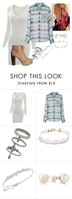 """Untitled #1038"" by amae03 on Polyvore featuring Doublju, Equipment, Miss Selfridge, LULUS, Swarovski, Glitzy Rocks and H&M"