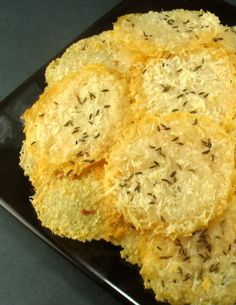 Baked Parmesan Cheese Crisps