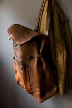 Leather backpack #leather #backpack #fashion