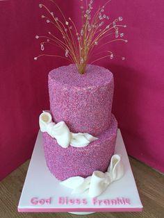 100's 1000's christening cake