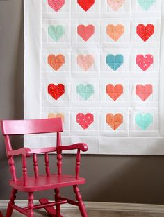Simple Heart Quilt Tutorial, Cluck Cluck Sew LoVe Allison& quilts, fabric, and tutorials! Beginner Quilt Patterns, Quilting For Beginners, Quilt Patterns Free, Quilting Tutorials, Quilting Projects, Quilting Designs, Sewing Projects, Quilting Ideas, Modern Quilting