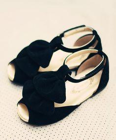 Another great find on #zulily! Black Amelie T-Strap Sandal - Kids by Joyfolie #zulilyfinds