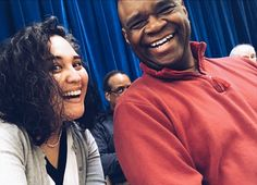 He gets ambushed with a selfie stick and still flashes an amazing smile! #thatstalentfolks #allaboutthatbass