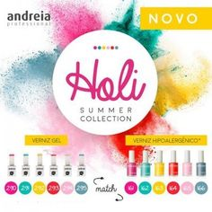 Africa Professional Nail Distributors brings you Andreia Professional Holi Summer Collection Gel Polish & it's Match Hypoallergenic Nail Polish(400×400)