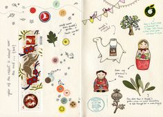 Sketchbook / Journal October 2011 by {JooJoo}, via Flickr © Afsaneh Tajvidi