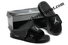 1c4b873858b9c Cheap Air Jordans 14 Massage Slippers Black White Gray