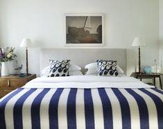 Coastal, Beach and Nautical Decor Ideas: Coastal Bedrooms -Design Ideas from Hotels