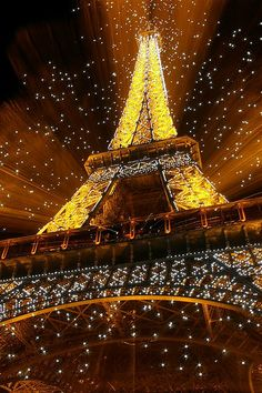 Chris proposed to me when the Eiffel Tower was lit up like this.  We were underneath it.  Looking at it still gives me warm fuzzies!