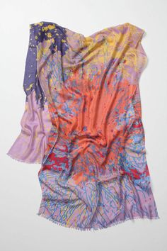 We Are Owls Seawater Blooms Scarf, $198, available at Anthropologie.