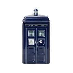 Doctor Who Ceramic TARDIS Cookie Jar   Hot Topic ($28) ❤ liked on Polyvore