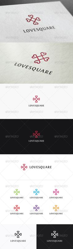 Love Square  #GraphicRiver         Love Square is a premium logo template contains heart symbol in a rectangular scheme. This logo is minimalist and elegant and consist of various color schemes. Also looks great in black and white. You will get the logo in AI Illustrator and Vector EPS format which means it is fully editable, customizable, and scalable as large as you need without lose it's graphic image quality.  	 Font used : Fontin Sans (free)     Created: 1August13 GraphicsFilesIncluded…