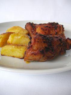 Lemon and chilli marinated chicken / Frango assado com limão siciliano e pimenta calabresa by Patricia Scarpin, via Flickr