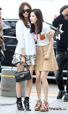 SmileYanie, 160506 Yoona and Seohyun l @ Incheon Airport...