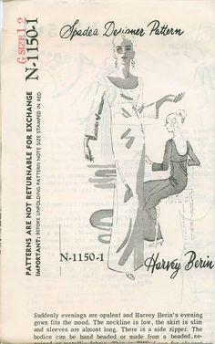 1969 Spadea 1150 Designer Dress Sewing Pattern by OhSewCharming, $50.00