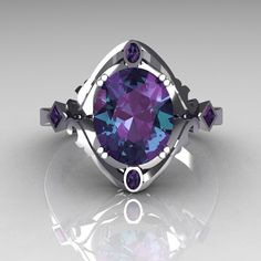 What if this had the large oval stone as a blue diamond instead of the alexandrite?
