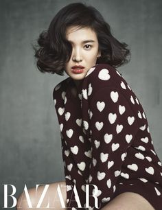 Song Hye Kyo looks chic and elegant in fashion magazine 'Harper's Bazaar' Korean Beauty, Asian Beauty, Yoo Ah In, Bazaars, Song Hye Kyo, Looks Chic, My Hairstyle, Hairstyles, Recent Events