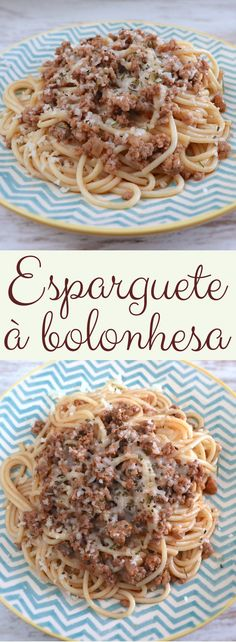 If you like pasta dishes you must try this delicious recipe that mix the spaghetti and the minced meat! A tasty, quick and easy recipe with excellent presentation! Meat Recipes, Pasta Recipes, Cooking Recipes, Minced Meat Recipe, Crepes Filling, Spaghetti Bolognese, Portuguese Recipes, Latest Recipe, Food Porn