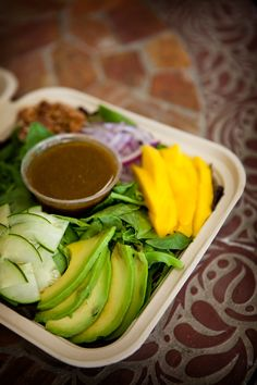 Mango and avo salad from Healthy Creations in Encinitas