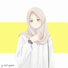 Hijab art Hijab illustration Kapal k z resimleri Anime Art Girl, Anime Girls, Tmblr Girl, Muslim Pictures, Anime Korea, Hijab Drawing, Islamic Cartoon, Hijab Cartoon, Islamic Girl