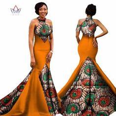 Image of Mermaid African Dresses New Arrival Sleeveless Floor Length Women Formal Occasion Dress Africa Evening Gowns for African Dresses For Women, African Print Dresses, African Attire, African Wear, African Fashion Dresses, African Women, African Style, Ankara Fashion, African Prints