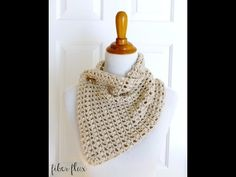 How To Crochet the French Vanilla Button Cowl, Episode 261 - YouTube