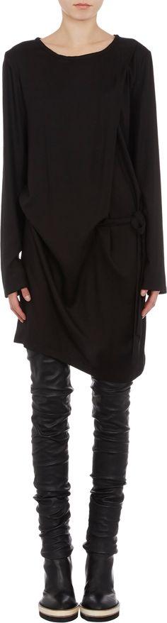 Ann Demeulemeester  Diagonal-Draped Dress