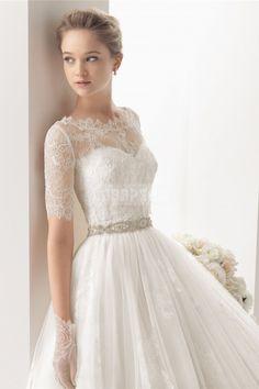 Samantha: Lace overlay jacket.....love this! $382.00! Sweetheart Empire Waist Elegant