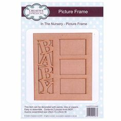 Creative Expressions Dimensional Art Decoupage MDF - Nursery - Picture Frame
