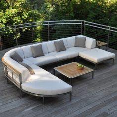 Kingsley-Bate Tivoli Stainless Steel Sectional Square Corner Chair