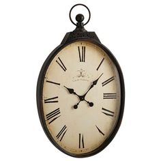 Chrome poli et noir Bond Street Bureau Horloge ou mantel clock