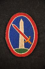 WWII US ARMY MILITARY DISTRICT OF WASHINGTON SSI SHOULDER SLEEVE INSIGNIA PATCH