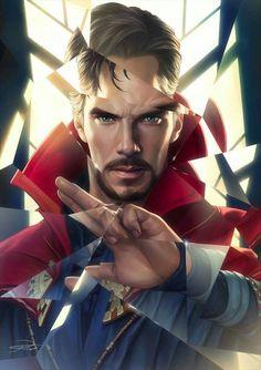 Dr. Strange - Yin Yuming Geek Games, Marvel Cinematic Universe, Mcu Marvel, Marvel Dc Comics, Comic Art, Comic Books, Captain America, Superman, Batman