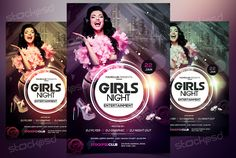 Present your next event with this beautiful flyer. Girls Nightis a Free PSD Flyer Template to Download. This PSD File is very easy to edit, change the color, text, shapes or other elements that you can easy add/delete.This flyer have also Alternative Colors which you can change the whole flyer template by justone-click ! Your event can look better when you have creative flyer. This flyer is suitable to use for any Music Event, Music Mixtape, Song releases or Business proposes such as...