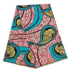 LBL40-45 100% Cotton Super Wax Hollandais Fabric, African Ankara Fabric 6 Yards…