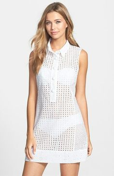 Nanette Lepore Eyelet Cover-Up Dress available at #Nordstrom