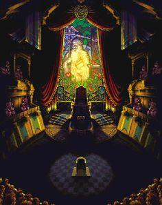 """Chrono Trigger"" trial scene, pixel art"