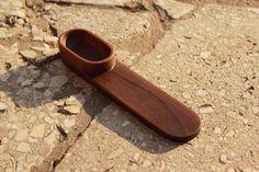 Black walnut hi-tech style spoon by TwinswoodStudio on Etsy