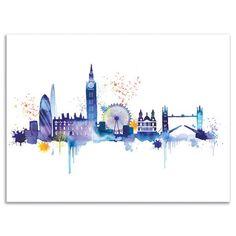 Summer Thornton - London Skyline, Canvas Print, 30x40cm, £22