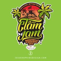 Client: Clam Jam  Projects: Branding, Logo, Promotional Items, Apparel, T-Shirts, Temporary Tattoos, Flag, Stickers, Color Changing Cups ...... Start Communicating. Get Results. Visit our website and start a project today! www.jessehopkinsdesign.com Marketing Approach, Clam, Temporary Tattoos, Design Projects, Branding, Stickers, Website, Logo, Shirts