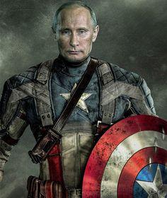 Vladimir Putin as Captain America